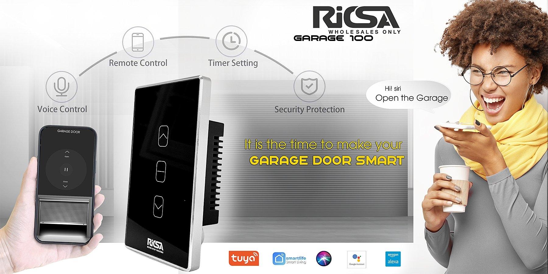 RICSA -Biến Cửa Cuốn Thường thành Thông Minh điều khiển từ xa quá đơn giản với RICSA Garage 100