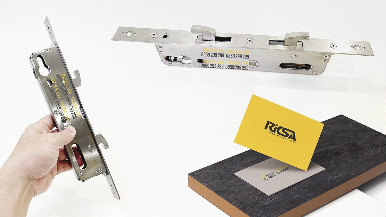Ruột 3585 ( 300 x 200 x 50mm) dành cho khoá cửa lùa nhôm, sắt thông minh